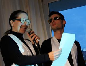 Ver1meierei-Moderatoren Vroni KIefer und Marcel Maas