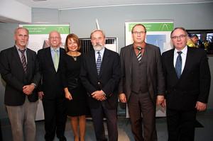 Heiner Nebel (NWJ), Michael Söhlke (Avacon AG), Ulrike Nevermann (Museumsleiterin), Prof. (em.) Dr.-Ing. Michael F. Jischa (TU Clausthal), Udo Sahling (Klimaschutzagentur), Werner Koch (Kurator)