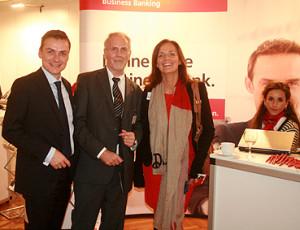 Thomas Rehmet (Prokurist Santander Bank), Heiner Nebel (NWJ) und Ina Kreimer (Gebietsleiterin Santander Bank)