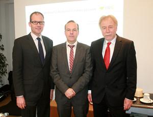Ulf-Birger Franz (Region Hannover), Mattias Böhle (HRG) und Dr. Heinrich Jagau (Sparkasse Hannover)