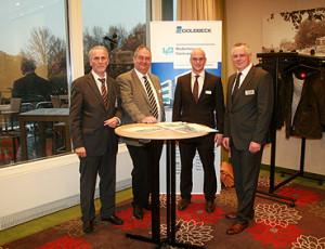 Heiner Nebel (NWJ), Mathias Krage (DSLV), Philipp Vogel (Goldbeck) und Stefan Schröder (LNC)