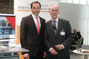 Messe-Vorstand Dr. Jochen Köckler und Heiner Nebel