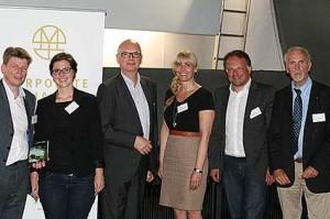 v.l.n.r.: Tim Rademacher (wissenswerft), Lisa May (nordmedia), Thomas Schäffer (nordmedia), Susanne Melcher (Conti), Carsten Schüler (BEST COMPANY VIDEO), Heiner Nebel (NWJ)